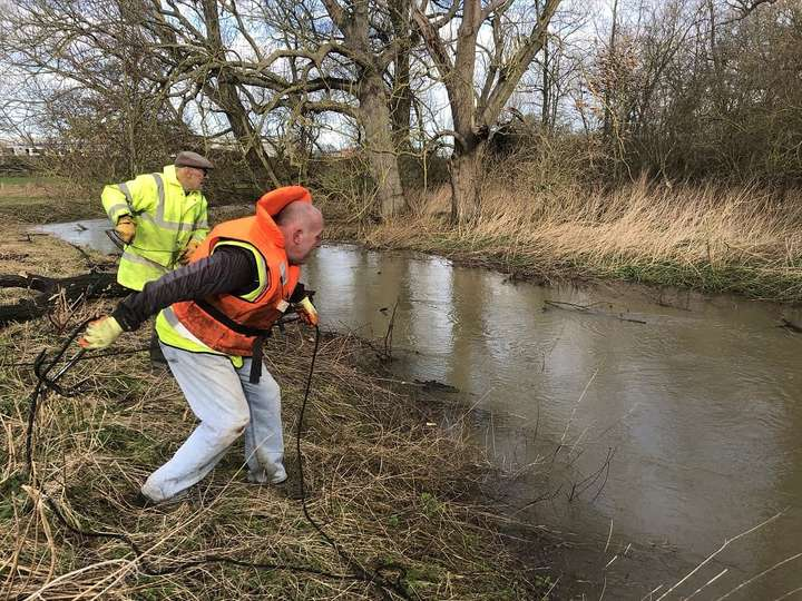 River debris clearance